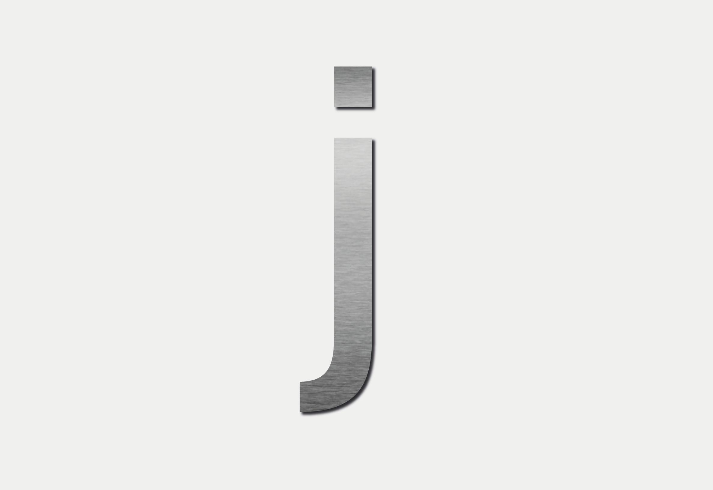 Letra J em Inox
