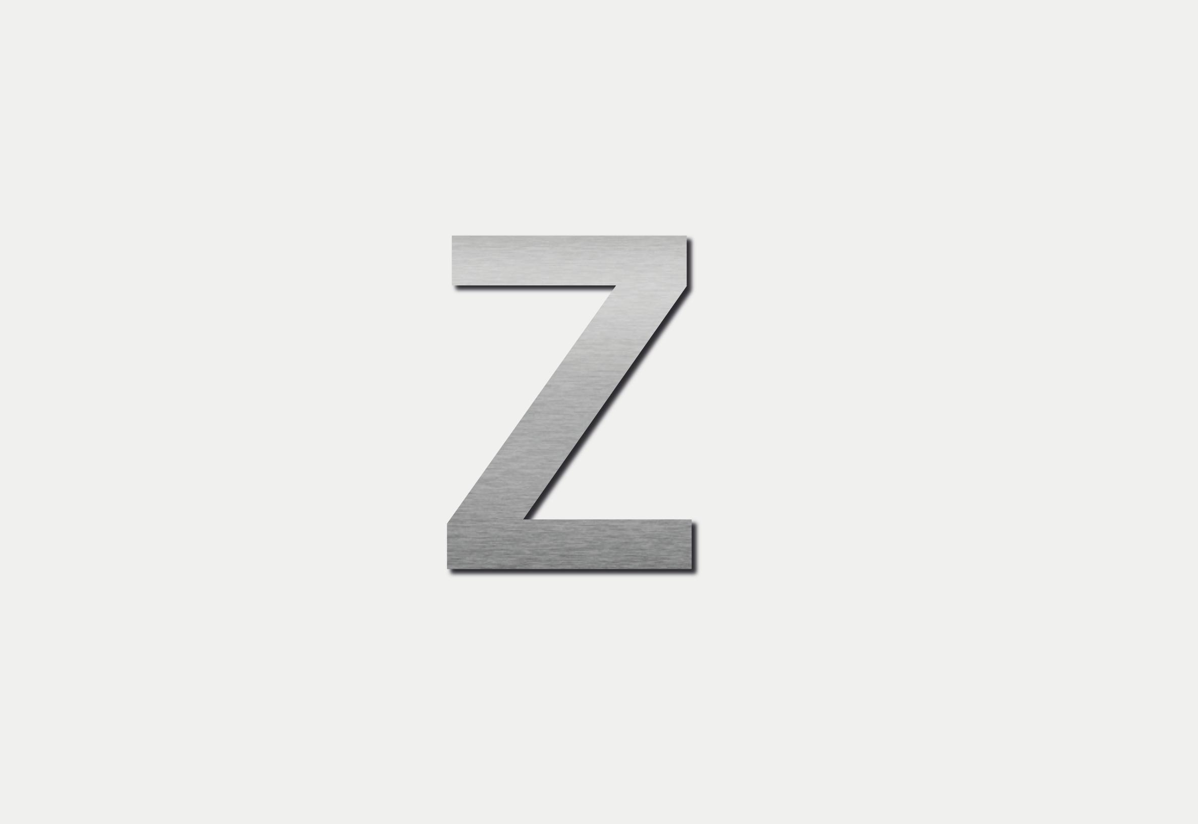 Letra Z em Inox