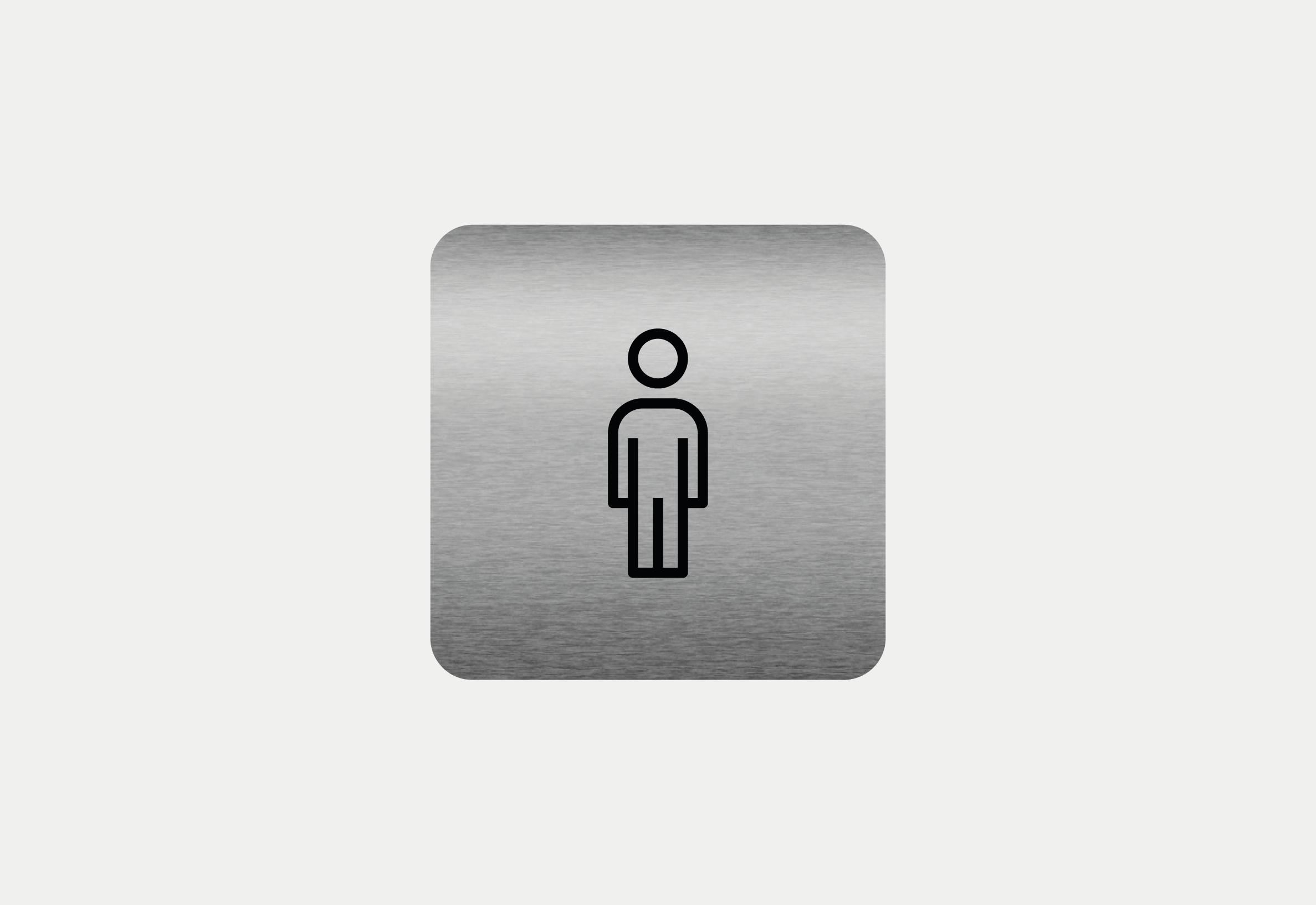 """Placa em ACM com figura """"Homem"""""""